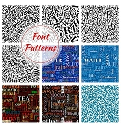 Number letter font seamless pattern background vector