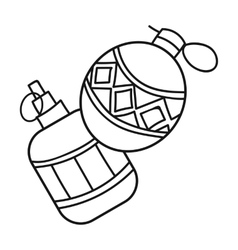 Paintball hand grenade icon in outline style vector