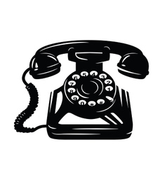 telephone icon vector image