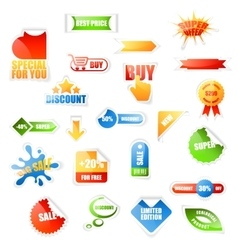 Sale labels on white vector