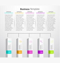 Infographic columns vector