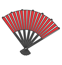 japanese fan isolated icon vector image