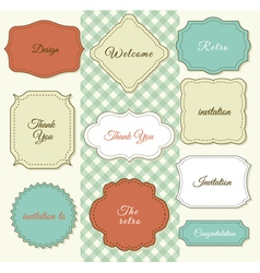 Vintage frames on shabby chic background vector