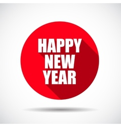 Happy new year flat icon with long shadow vector