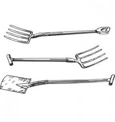 Garden tools vector