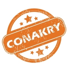 Conakry round stamp vector