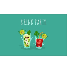 Cocktail bloody mary mojito vector