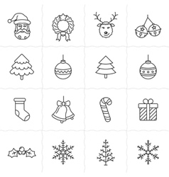 Christmas icons set - simplus series vector