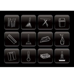 Home objects and tools icons vector