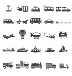 Twenty five icons of transport theme vector