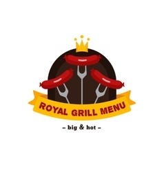 Bright bbq and grill restaurant logo brand vector