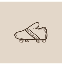 Football boot sketch icon vector