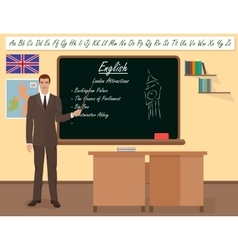 School english male teacher in audience class vector