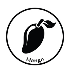 Icon of mango vector