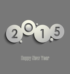 Abstract gray New Years wishes template vector image vector image