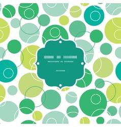 abstract green circles frame seamless vector image vector image