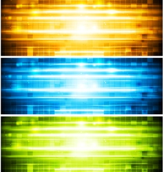 Abstract shiny banners vector image vector image