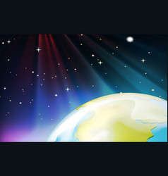 background scene from outer space vector image