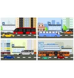 bus stops vector image vector image