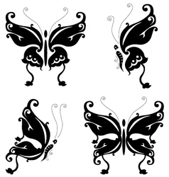 butterfly silhouette for you design vector image vector image