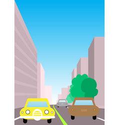 City traffic vector
