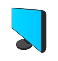 Computer monitor icon cartoon style vector image vector image