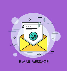 concept of e-mail message electronic messaging vector image