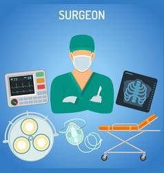 Doctor surgeon concept vector