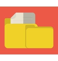 file folder icon image vector image
