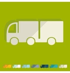 Flat design truck vector