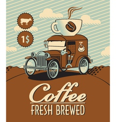 fresh coffee car vector image