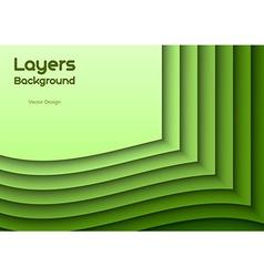 Green layeres vector
