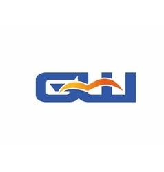 GW letter logo vector image vector image