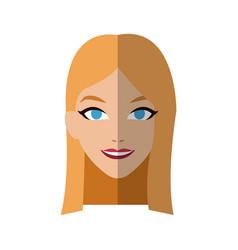 Handsome woman icon vector