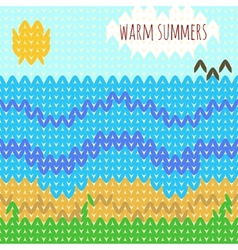 Knitted background warm summers vector