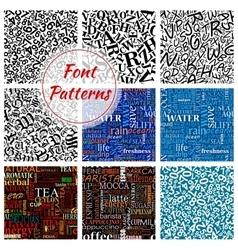 Number letter font seamless pattern background vector image vector image