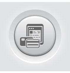 Pay as you go icon grey button design vector