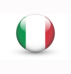 Round icon with national flag of Italy vector image
