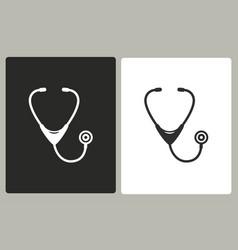 stethoscope - icon vector image
