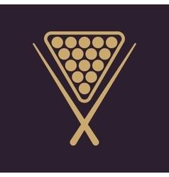 The billiard icon game symbol flat vector