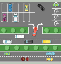 Traffic laws poster in flat style vector