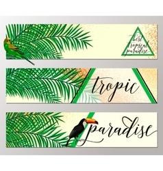 Tropical paradise banner vector