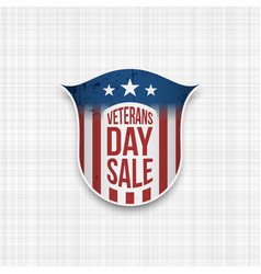 Veterans day sale realistic badge vector