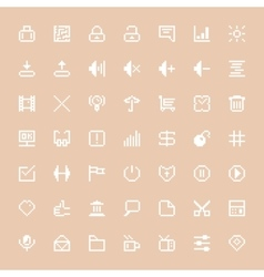 white web icons set in pixel art vector image