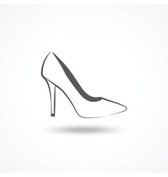 Womans shoe icon vector image vector image