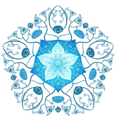 Zentangle mandala style original lace ornament vector image vector image
