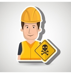 Worker symbol danger vector