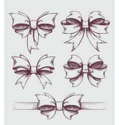 Bows set vector