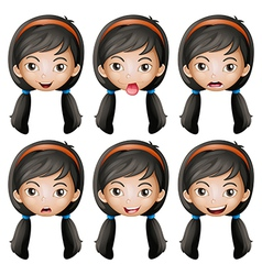 A face of a girl vector