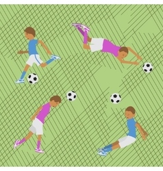 Seamless pattern soccer vector image